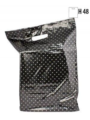 Plastpose m/ guldbladet mønster - 300 stk.